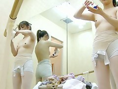 Scanty tits adjacent to ballet class changing room