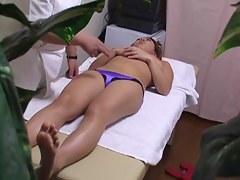 Hot chick gets very deep voyeur massage of wet vagina