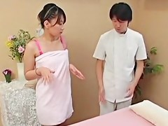 Perfect Japanese fucking say no to masseur in voyeur massage clip