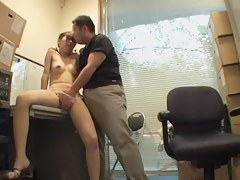 Nice creampie be incumbent on a Jap floosie in spy cam hardcore video
