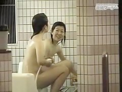 Hidden cam in shower recording sweet Asian amateurs nude