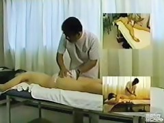Sweet Asian girl under the medical massage on hidden cam
