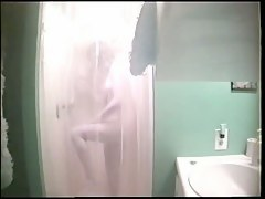 Young amateur blonde hidden shower video