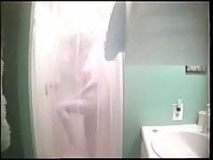 Young amateur blonde hidden shower video