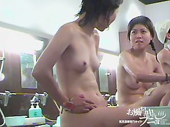 Nude Asian woman is pouring herself in the shower room dvd 03043