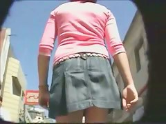 Voyeur guy spots an marvelous babe in short dress on the street