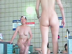 Charming Asian tits on the shower room voyeur camera dvd 03005