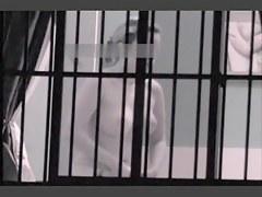 Window hidden cam shooting the nude titted neighbor