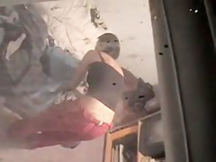 Neighbors daughter spied changing through the window