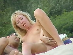 Wonderful nude beach voyeur pussy shot