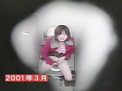 The hidden camera shoots masturbation of Asian in toilet