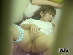 Cute Japanese sex masturbation video of a hot teen slut