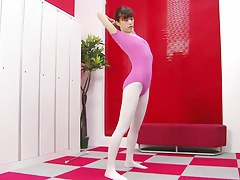 Asian gymnast was caught naked by dressing room spy camera