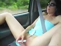voyeur car flash masturbation