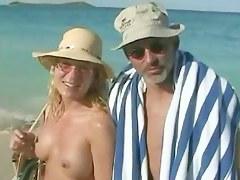 Real beach voyeur vid with hot nudist chicks