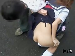 Two girls with hot asses got skirt sharked on the street