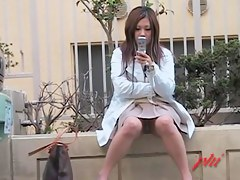 Foxy Asian babe turned an upskirt master into a skirt shark
