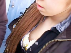 Downblouse amateur japanese redhead vid