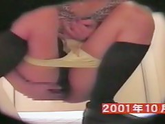 Masturbating Asian girl in the college toilet