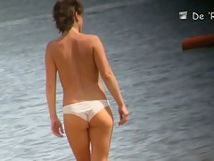 Voyeur beach nudity and topless show with hot girls