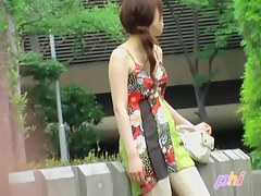 Japanese public sharking video reveals a pair of small tits