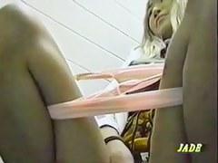 Blonde amateur pissing and masturbating on cam closeups