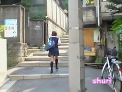 Street sharking with a nice college girl who wears panties