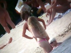 Incredible nude beach voyeur footage