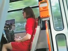Girls on the bus pretend not to see my hard members