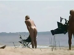 Hot video of several scenes from a nudist beach