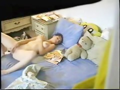 Young spy cam wife is masturbating in various positions