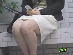 Japanese sharking video shows a woman wearing no panties