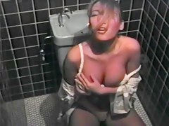 Babe rubs big boobs and masturbates on hidden spycam porno