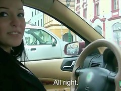 Taxi driver Natalie Blue screwed with her passenger for money
