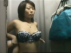 Hidden camera placed in changing room is filming everything