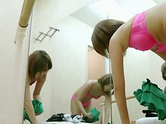 Cute teen exposed her hot nudity changing in changing room