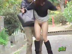 Yummy Japanese babe experiences a Sharking No Panties attack