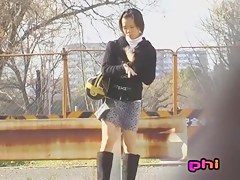 Kinky sharking video showing a lovely Japanese girl