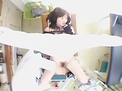 Fuckable Asian babe toyed hard during her Gyno exam