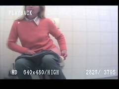 Amateur mature blonde hidden piss cam