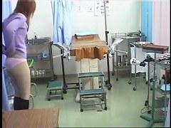 Horny voyeur tapes a hot medical exam.