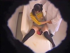 Ass and pussy exam of the sweet Japanese teenage