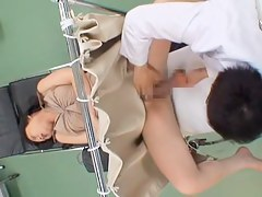 Perfect Asian gets some hardcore fucking during a Gyno exam