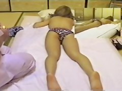 Playful Japanese enjoys in erotic massage hidden cam video