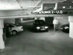 Blonde hidden cam porn in a garage