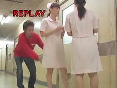 Sheer panty of the cute nurse is seen on sharking video