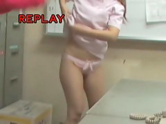 Babe from Japanese sharking movie gets skirt highly lifted