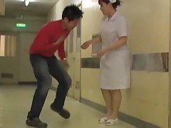 Kinky sharking fun for lewd man and shy medical nurse