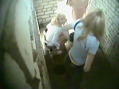 Voyeur cam hidden in public toilet shoots amateur females