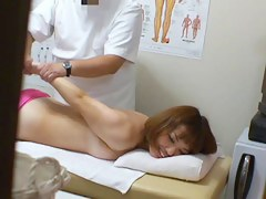 Lovely cutie feels shy to get the sex voyeur massage